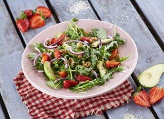 Salada de rucula abacate e morangos CHPS 5 1