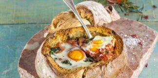 Ovos escalfados no pão - @TeleCulinária