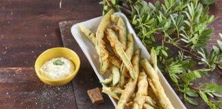 Peixinhos da horta com maionese de coentros - @TeleCulinária