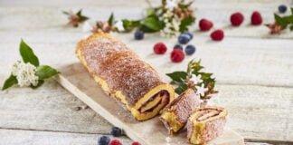 Torta de citrinos e compota de frutos vermelhos -@Teleculinária