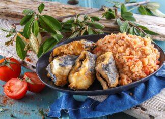 Peixe-espada frito com açorda de tomate - @TeleCulinária