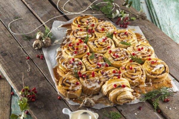 Arvore de natal de caracois doces -@Teleculinaria
