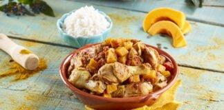 Caril de frango e abóbora das Caraíbas - @TeleCulinária