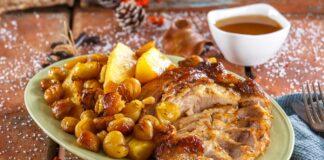 Pá de porco com castanhas e abacaxi - @TeleCulinária