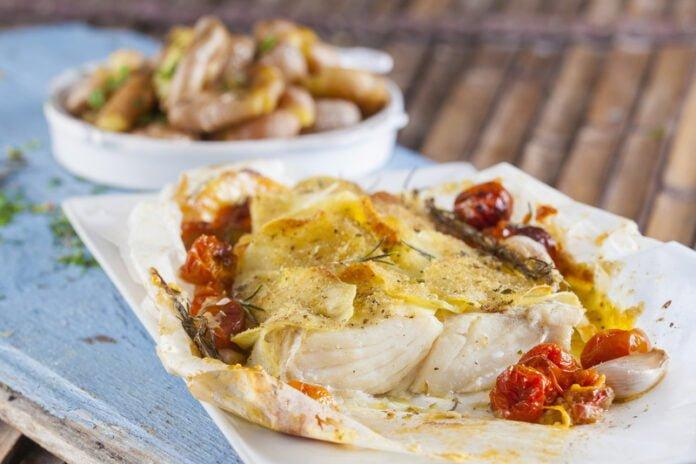 Bacalhau em crosta de batata - @TeleCulinária
