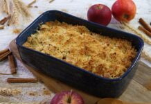 Crumble de maçã tradicional - @TeleCulinária