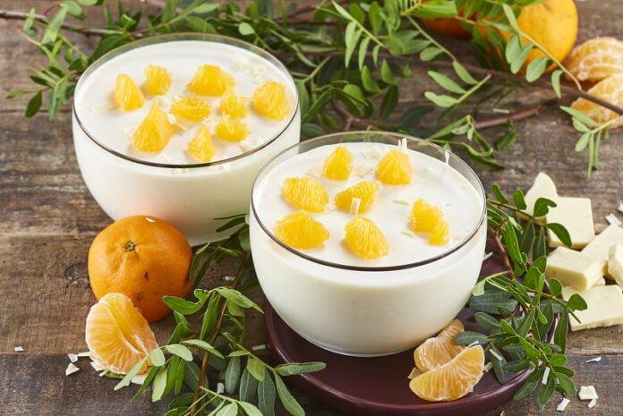 Mousse de chocolate branco e tangerina -@Teleculinaria
