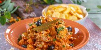 Carne de alguidar à portuguesa
