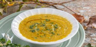 Sopa cremosa de curgete