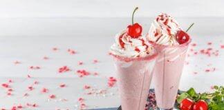 Milk shake de cereja