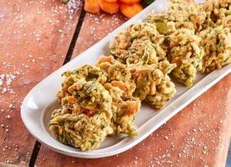 Pataniscas de couve e cenoura