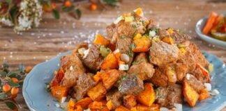 Rojões com batata-doce