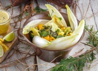 Salada de endívias, agrião e laranja