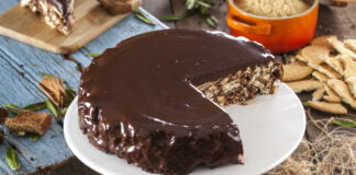 Salame de chocolate enformado