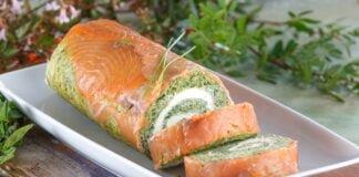 Torta de espinafres e salmão